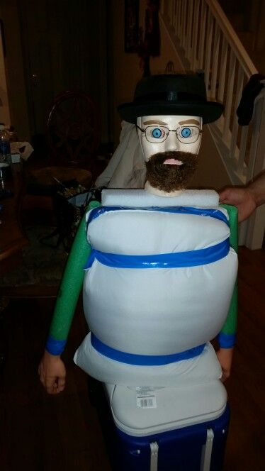 Walter White Made Out Of Pillow Floaties And Styrofoam