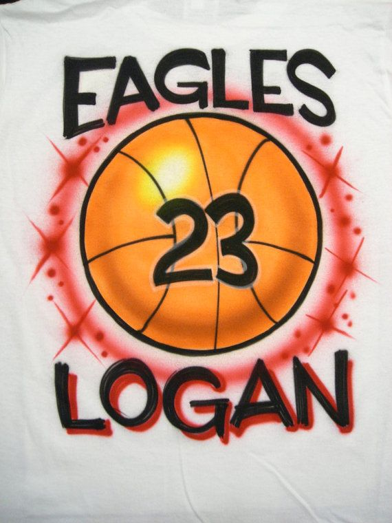 48ceb037 Airbrushed Basketball Shirt Personalized w/ Name Adult size S M L XL 2X via  Etsy