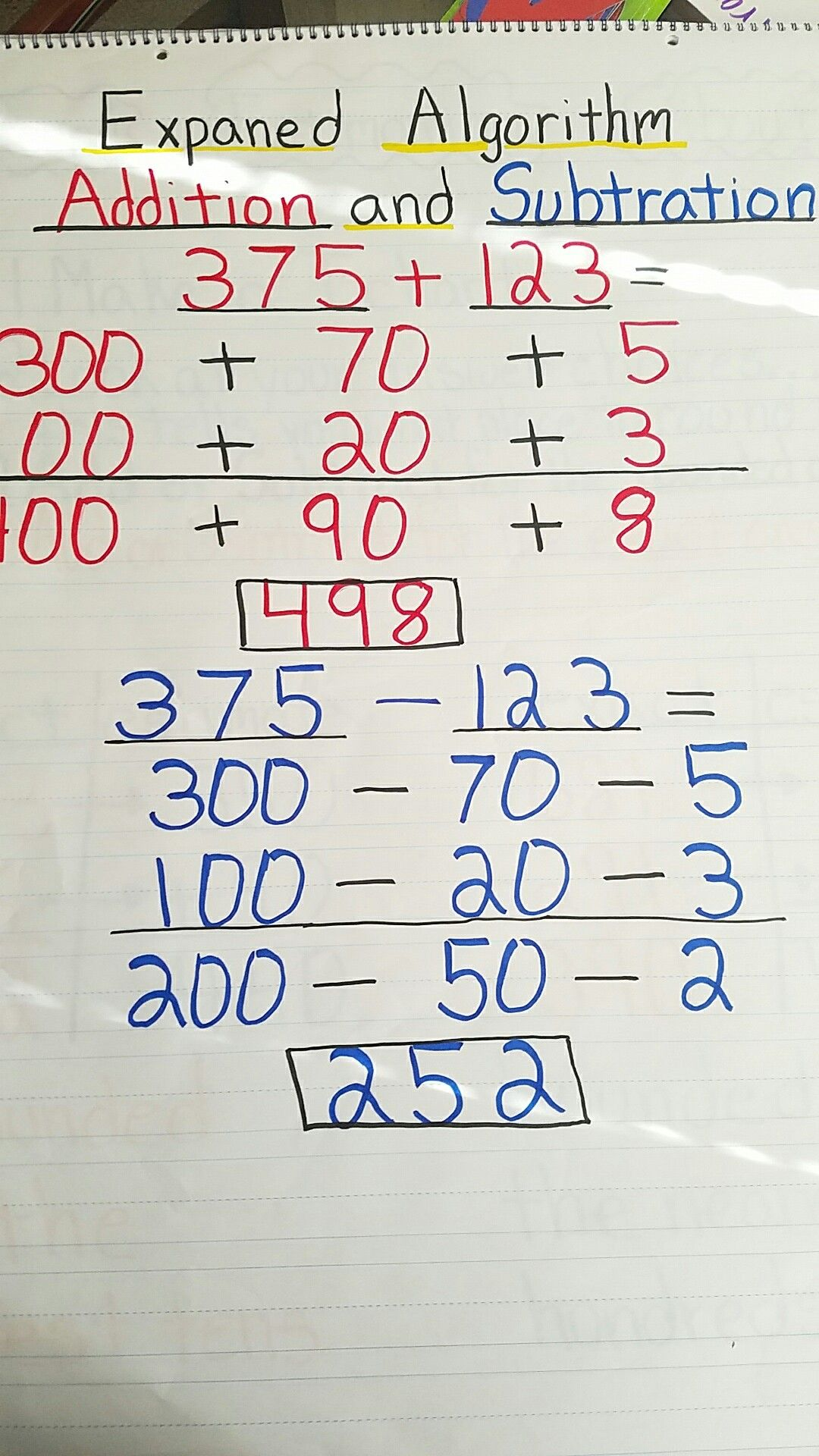 Expanded Algorithm addition and subtraction | first week of math ...