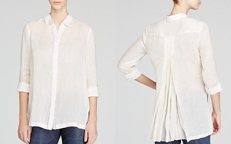2855330bbc44 Elie Tahari Carly Linen Pleat Back Shirt   luga   Clothes for women ...