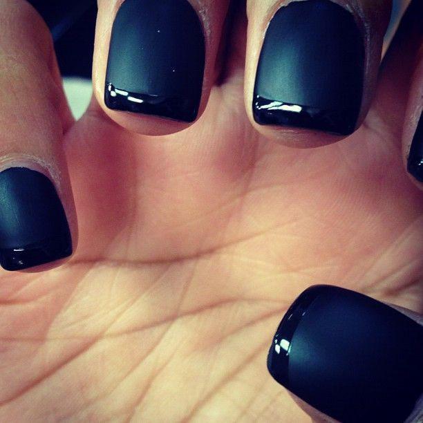 French tip with matte nails. I tried this using Revlon\'s matte top ...