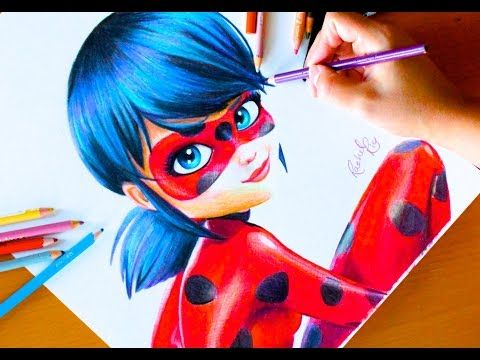 Miraculous Ladybug Speed Color Drawing Youtube Ladybug Art Miraculous Ladybug Fan Art Drawings
