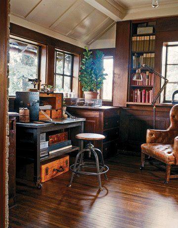 vintage industrial office