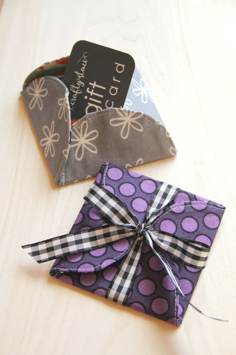 Curvy fabric gift card holder fabric gifts gifts diy