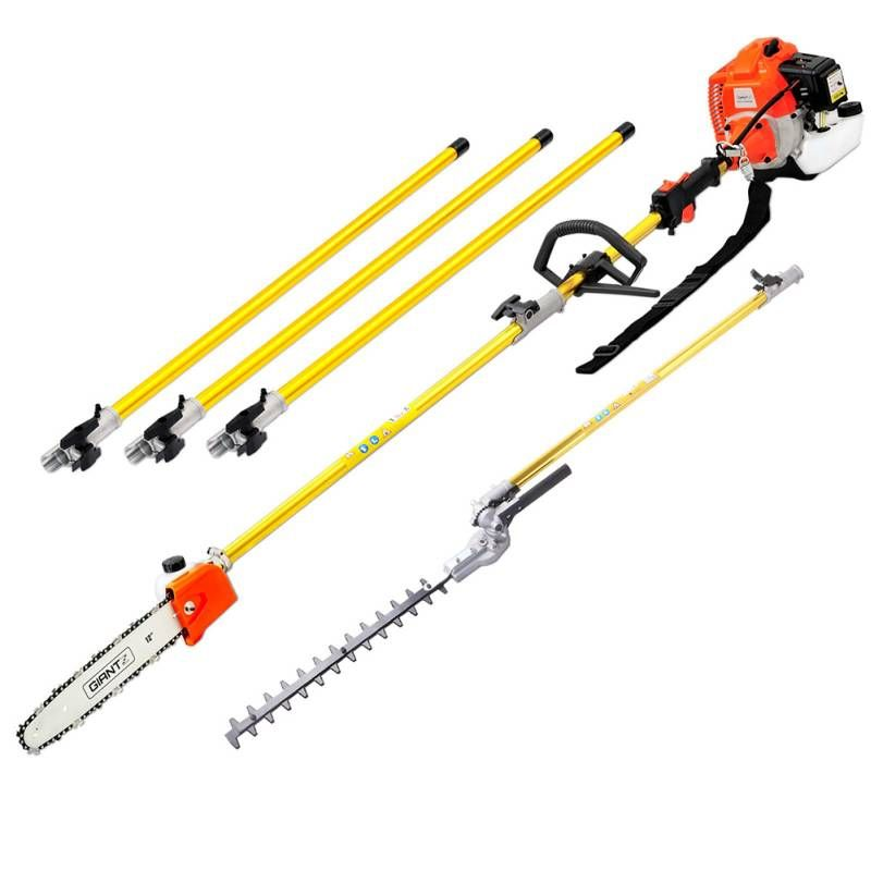 75cc pole chainsaw hedge trimmer pruner chain saw brush