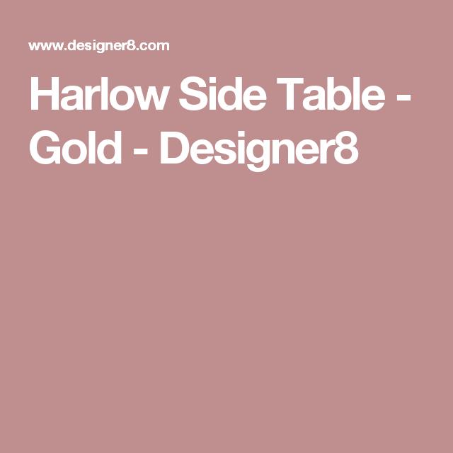 Harlow Side Table - Gold - Designer8