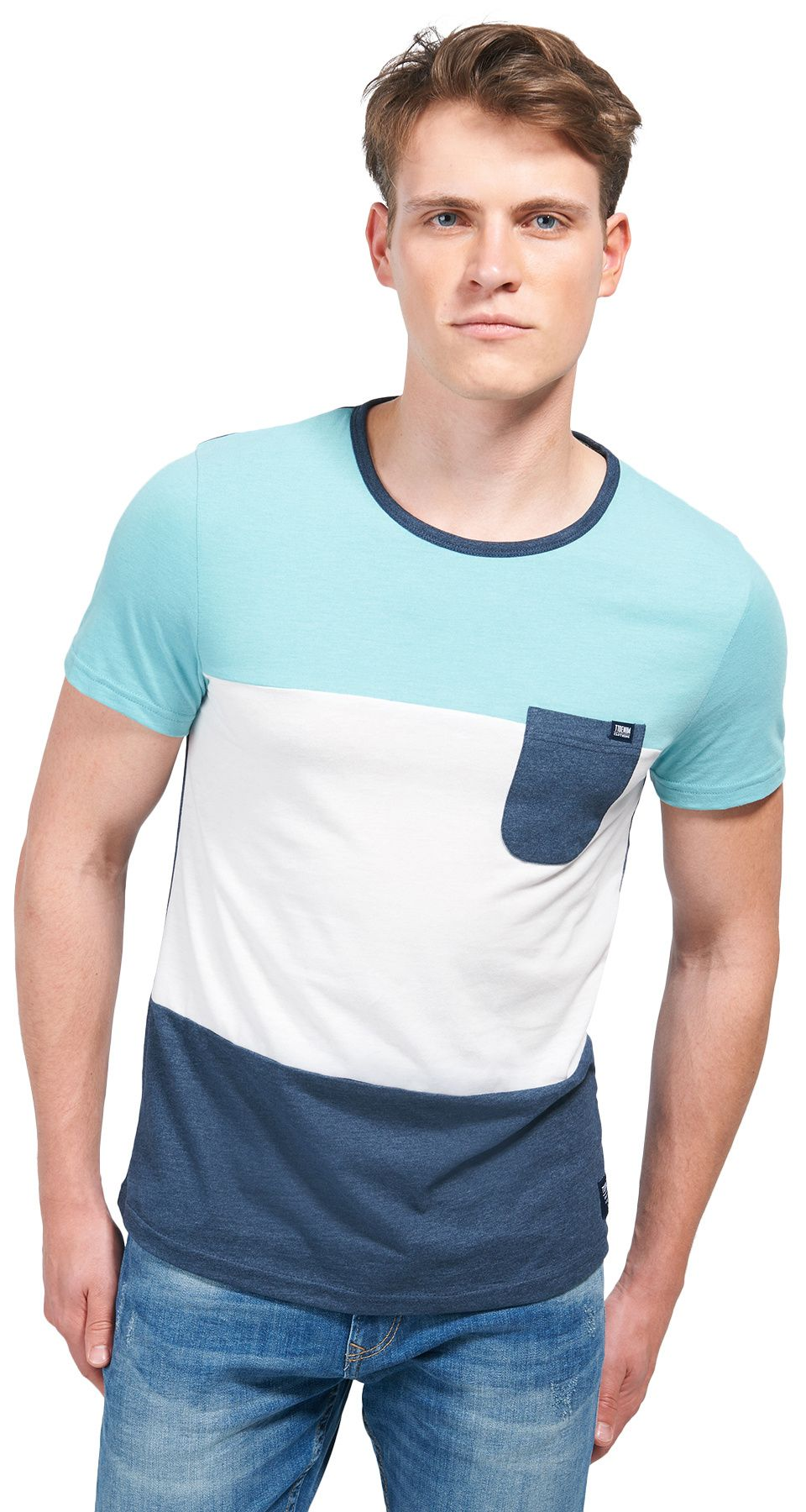 Tom Tailor Denim Colorblock T-Shirt Homme