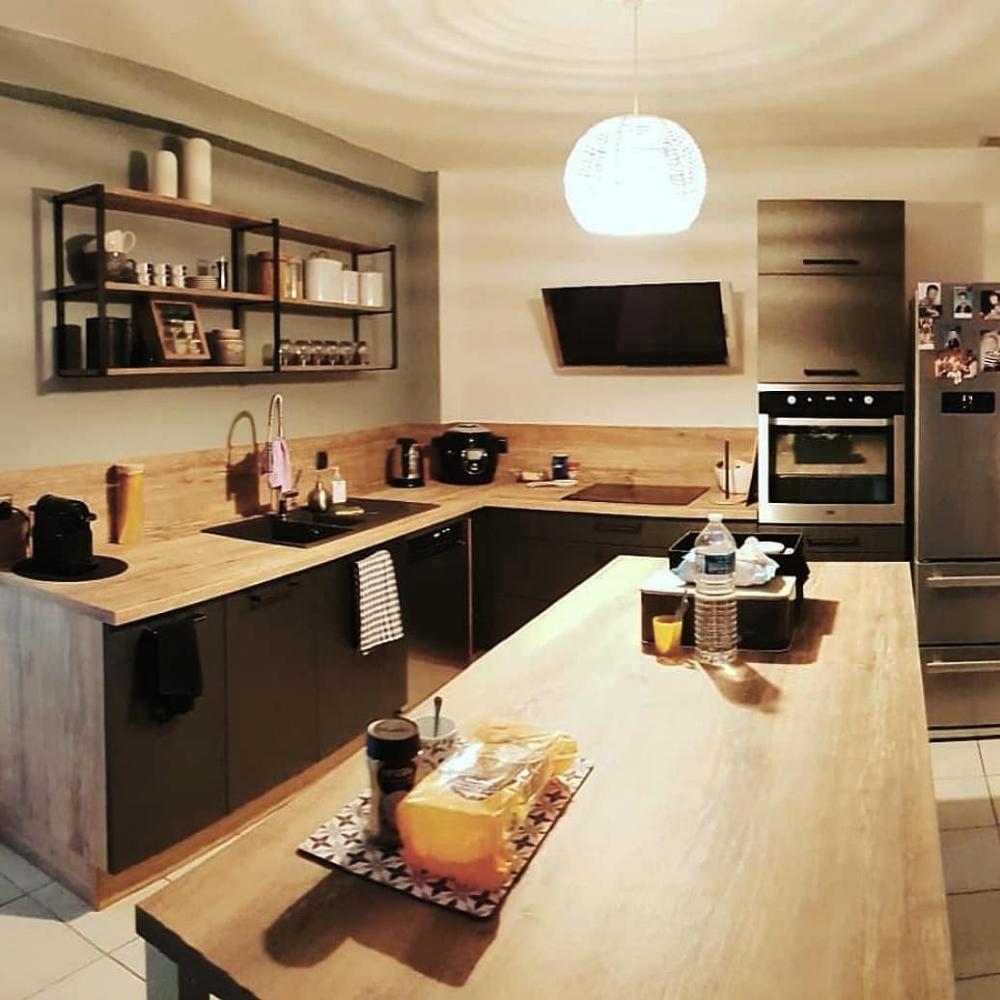 Plan De Travail Cuisinella cuisine de @morgane_g13 : modèle label, façades métal brossé