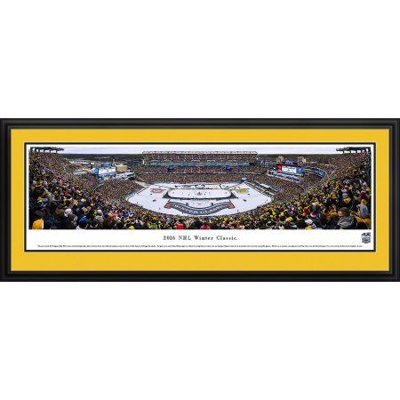 NHL Winter Classic 2016 - Boston Burins vs Montreal Canadiens - Blakeway Panoramas NHL Print with Deluxe Frame and Double Mat