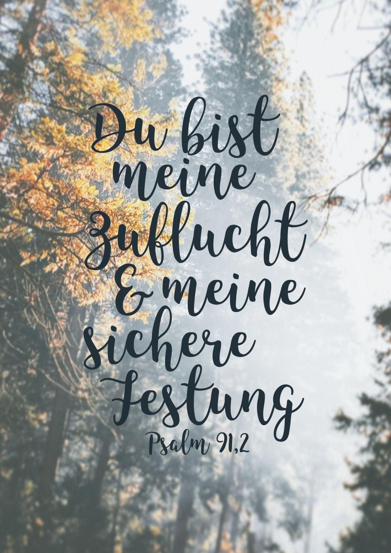 Du bist meine Zuflucht und meine sichere Festung. Psalm 91