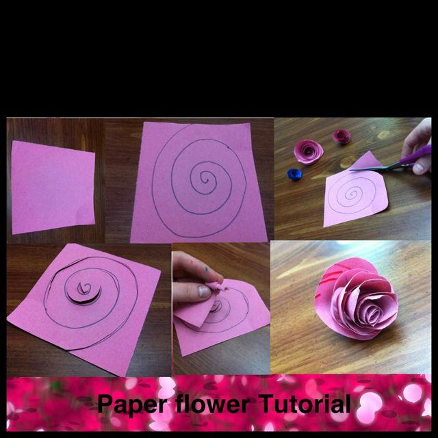 Paper flowers made out of scraps of construction paper heres a paper flowers made out of scraps of construction paper heres a quick tutorial mightylinksfo