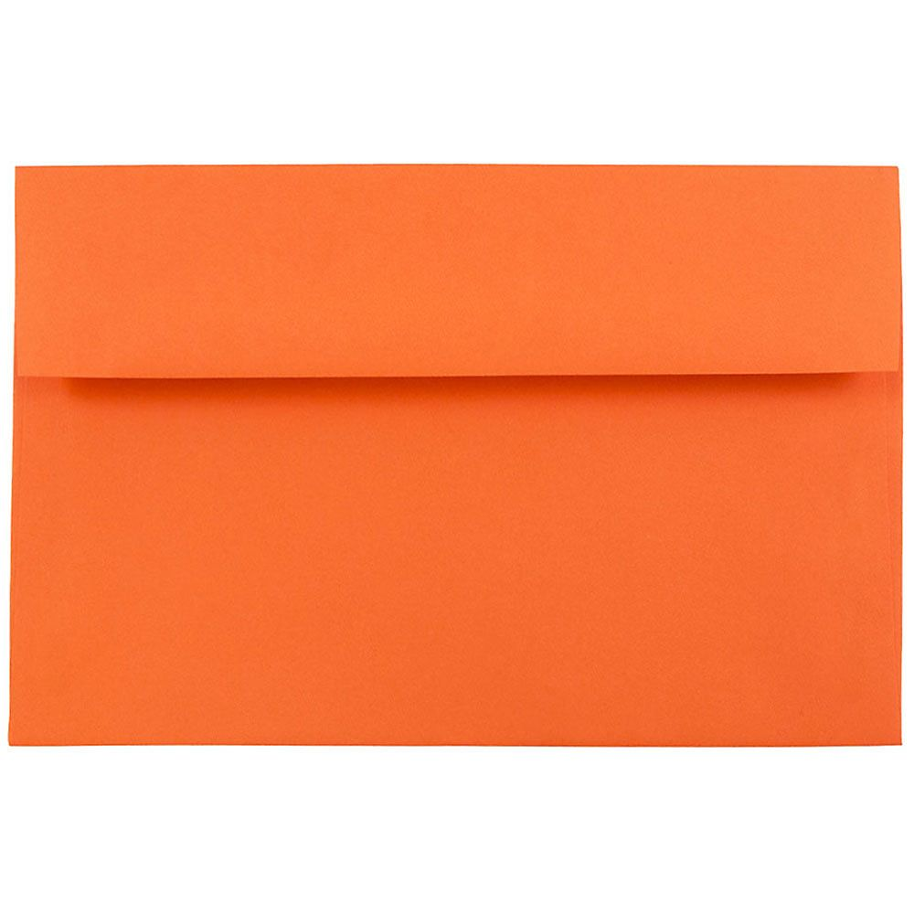 Jam Paper Booklet Invitation Envelopes Recycled A8 5 1 2 X 8 1 8 30 Recycled Orange Pack Of 25 Jam Paper Invitation Envelopes Paper