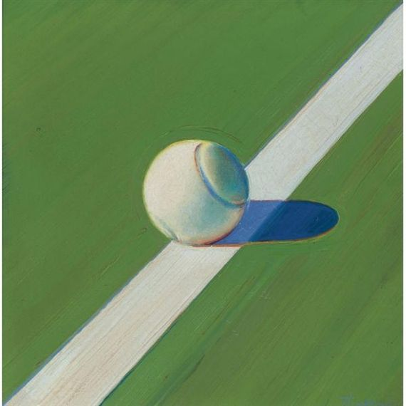 Artwork By Wayne Thiebaud Tennis Ball Made Of Oil On Canvas Wayne Thiebaud Tennis Art Tennis Art Painting