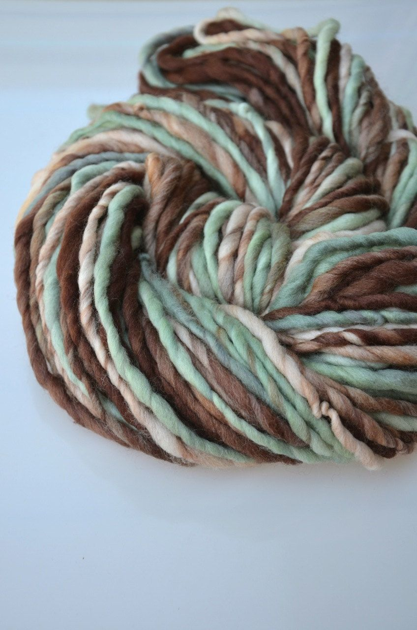 Mellow super bulky Polwarth handspun yarn by marion on Etsy, $28.00