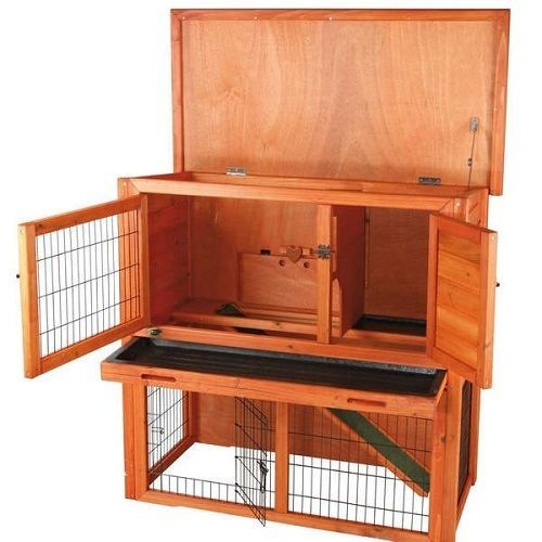 Rabbit hutch with run for outdoor guinea pig house kit for Outdoor rabbit hutch kits