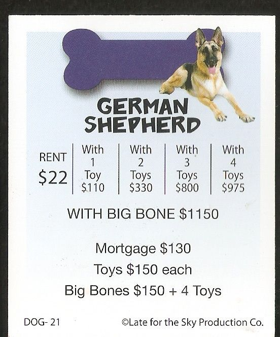 2004 German Shepherd Dog Breed Property Deed From The Dog Opoly