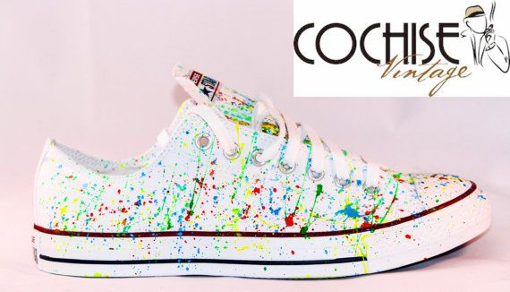 b39b912f5485 Custom Converse Low Top Splash Chuck Taylors Allstar
