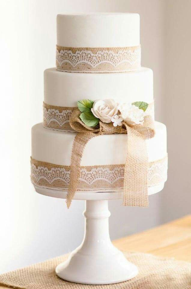 Jute Natural Cake Celebration Cakes Pinterest Wedding Cake