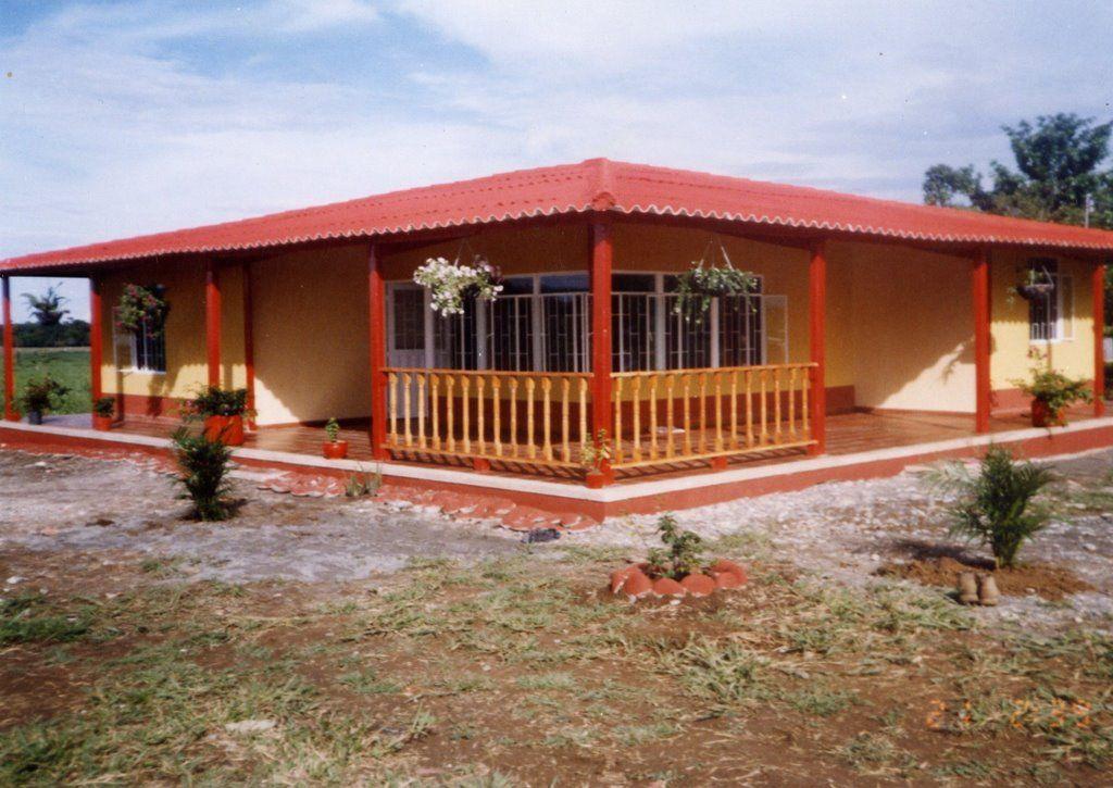 Modelo De Corredor De Casa Casas Campestres Casas Prefabricadas Casas Campestres Pequenas
