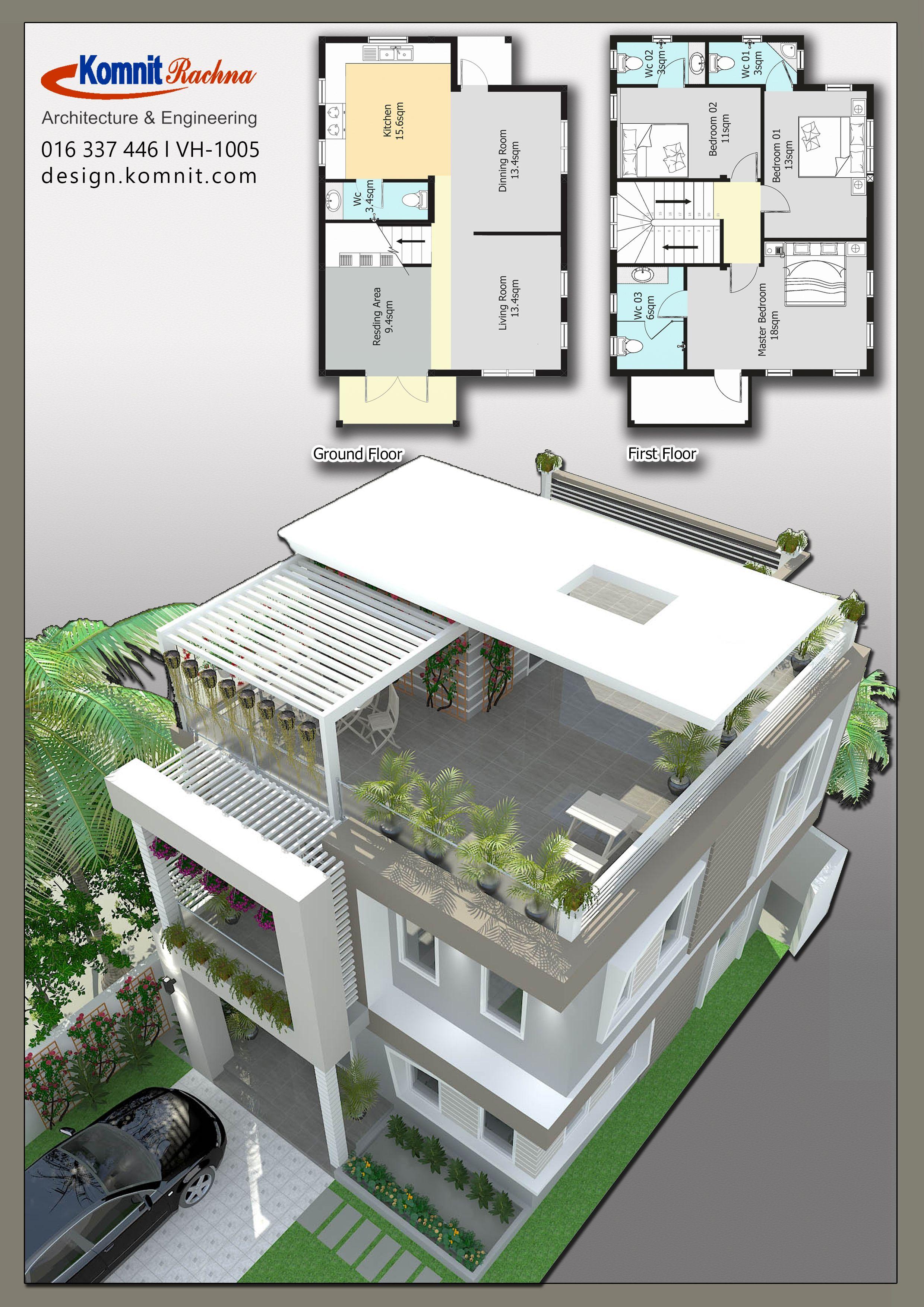 Houe Ep9 Vh 1005 Villas Komnit Khmer In Phnom Penh Cambodia House Designs Exterior House Layout Plans House Plans