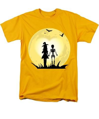 Romantic Halloween Witch And Skeleton T-shirt - Men\u0027s T-Shirt - romantic halloween ideas