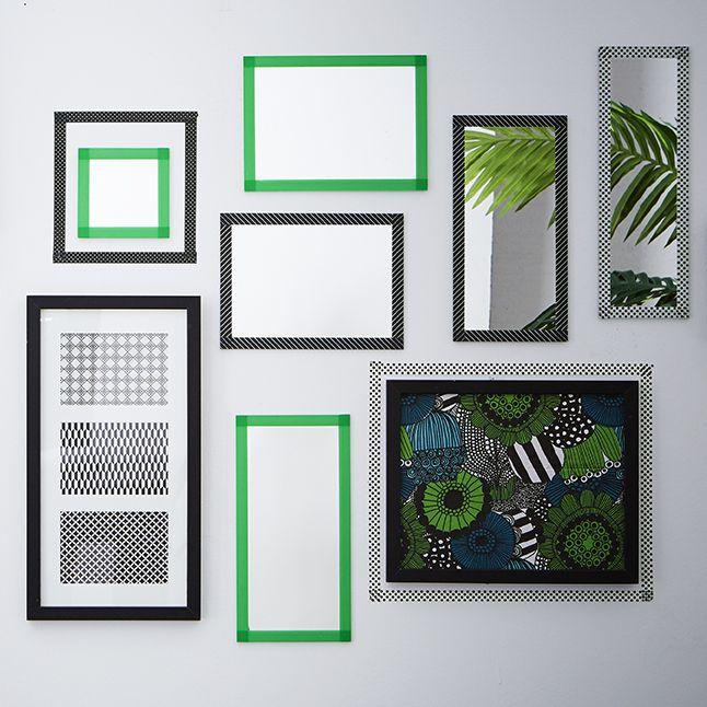d coration murale miroirs masking tape susan elizabeth 39 s homes and decor pinterest masking. Black Bedroom Furniture Sets. Home Design Ideas
