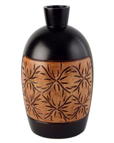 Thai Mango Wood Vases Mang Moom Mangonesthttpamazondp