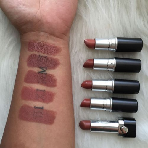 From top to bottom: Mac Velvet Teddy, Whirl, Persistence ...