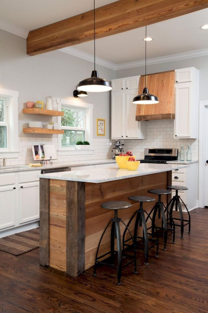 awesome rustic kitchen island design ideas 13 kitchen island with seating rustic kitchen on kitchen remodel no island id=66187