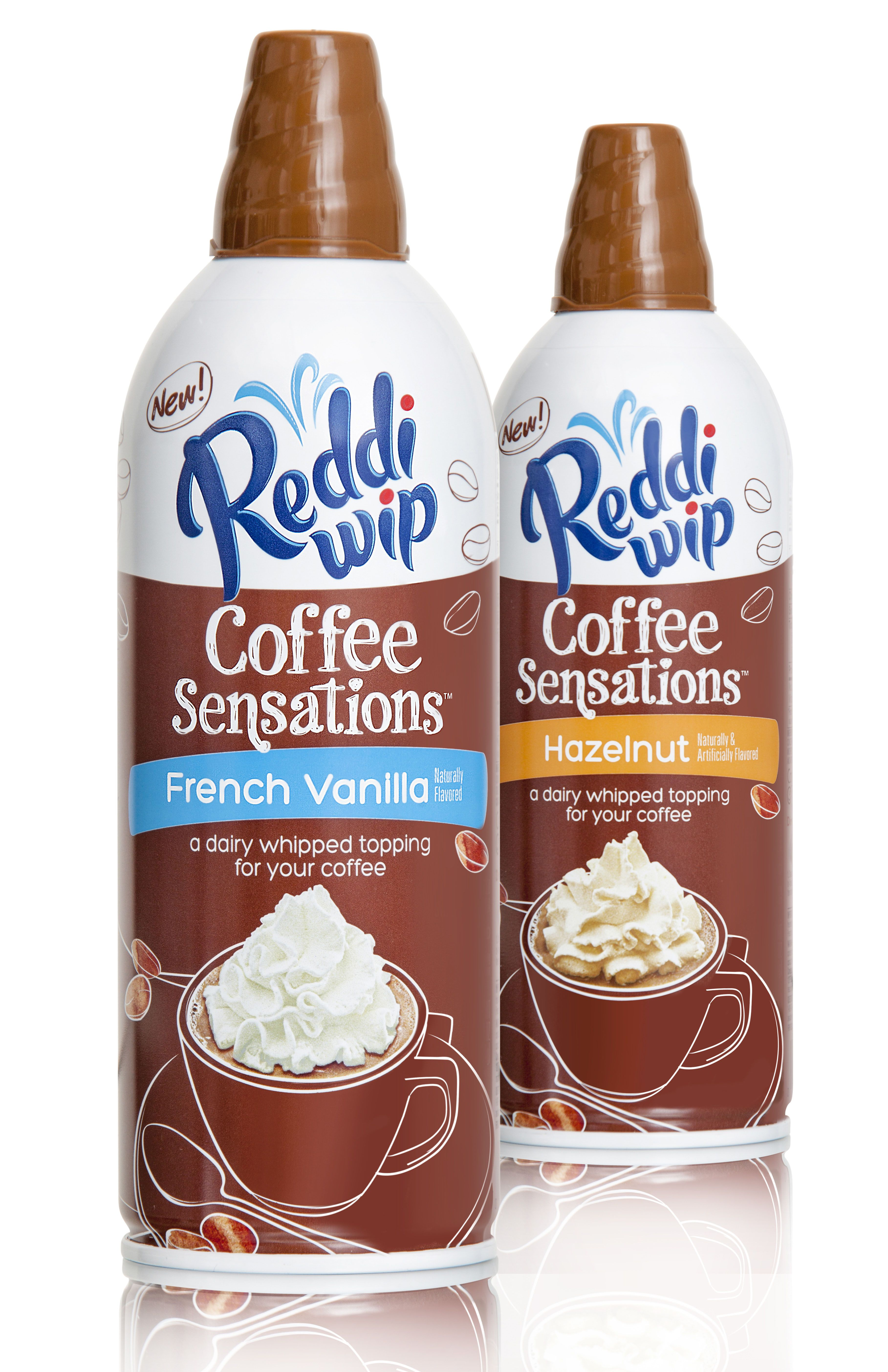 Reddi Wip Coffee Sensations French vanilla, Wine bottle