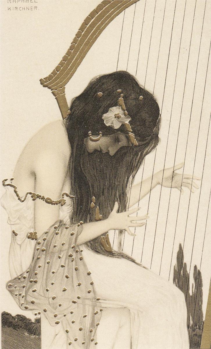 Greek Virgins - Raphael Kirchner - WikiArt.org   アートのアイデア, ヴィンテージアート,  イラストアート