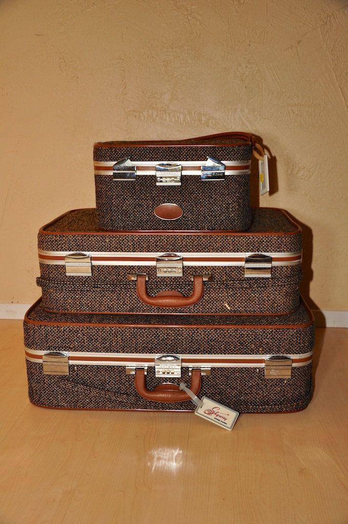 2eb44fff3 Vintage Tweed Skyway Luggage. $265.00, via Etsy. | Wish List ...
