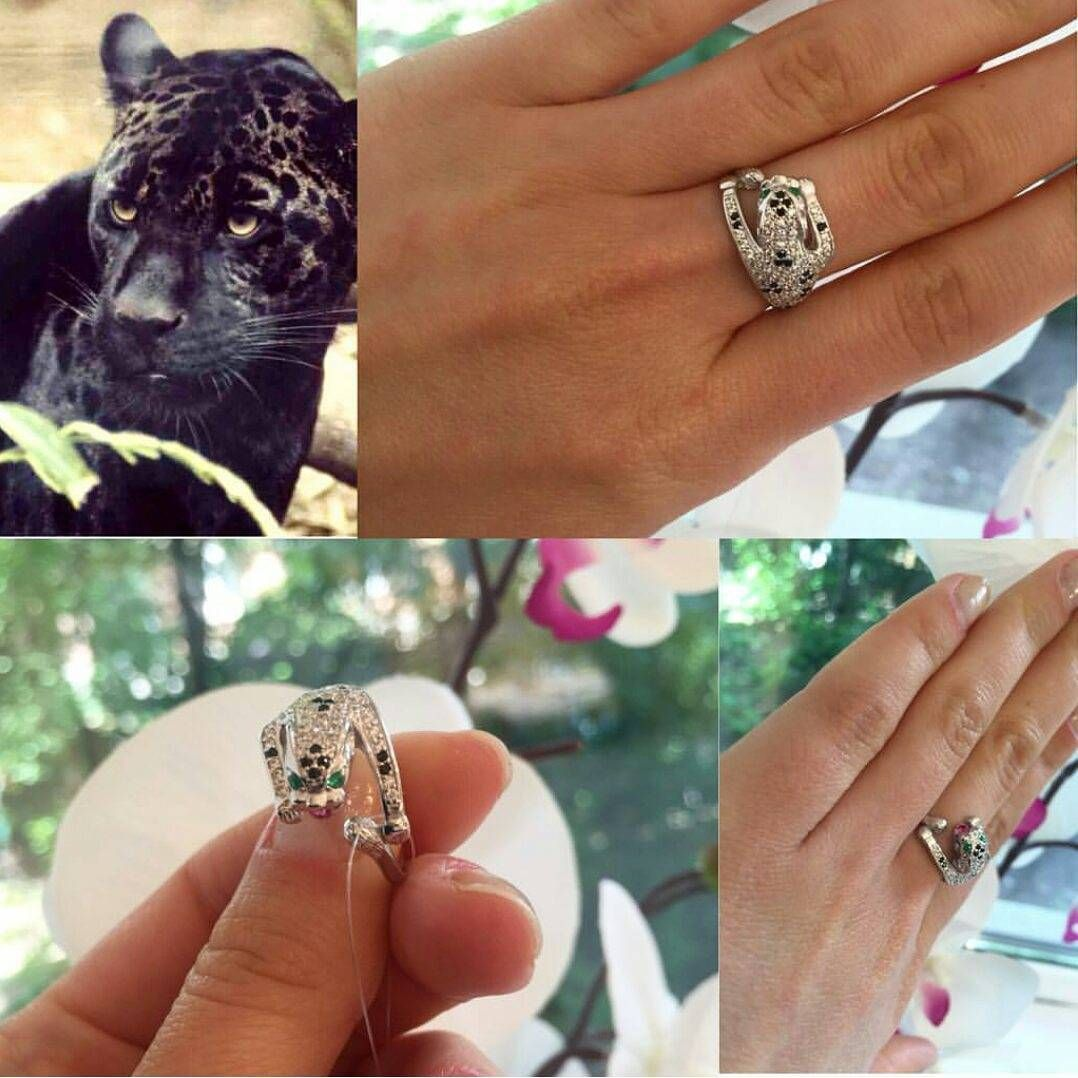 فضة925 مترومول تايجر كارتير جمال عالم الفضة نمر فضيات جاكوار زركون Engagement Rings Rings Engagement