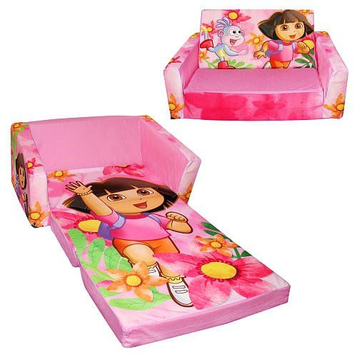 Dora The Explorer And Boots Flip Open Sofa With Slumber Dora In