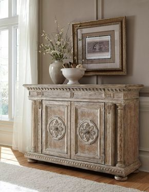 THIS CHALK PAINTED SIDE TABLE/BUFFET/ACCENT TABLE CHEST WOULD BE LOVELY IN  A · French Country ...