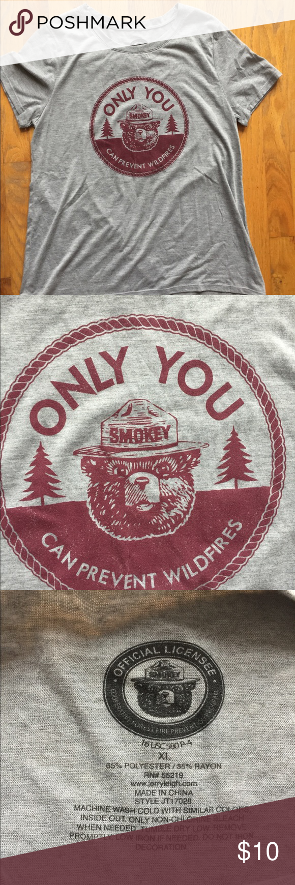 Smokey the Bear t-shirt Sz. XL New, Smokey the Bear Forest Fire Prevention  t-shit. Size XL. Classic throwback to the iconic forest fire prevention  slogan.