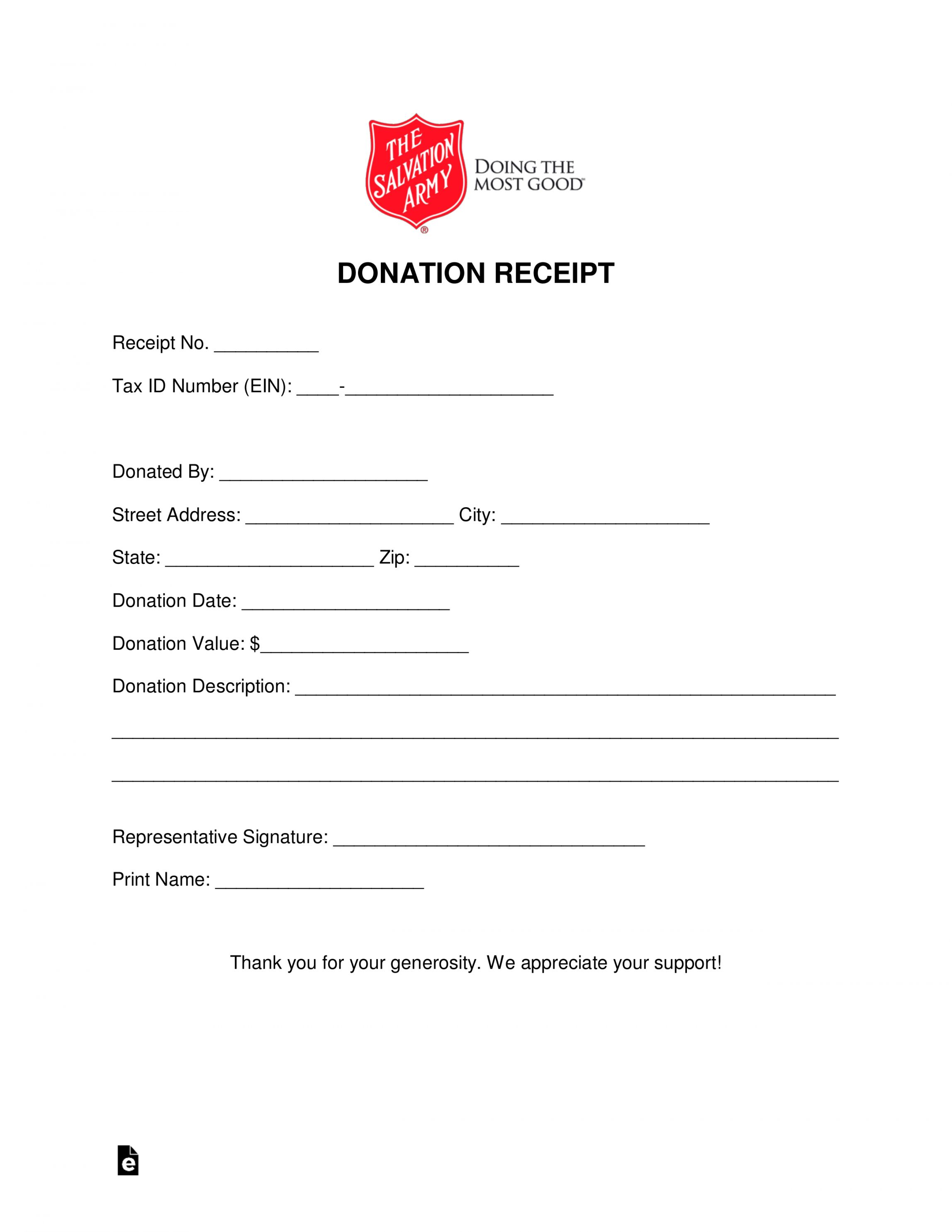Explore Our Example Of Thrift Store Donation Receipt Template In 2020 Receipt Template Donation Form Templates
