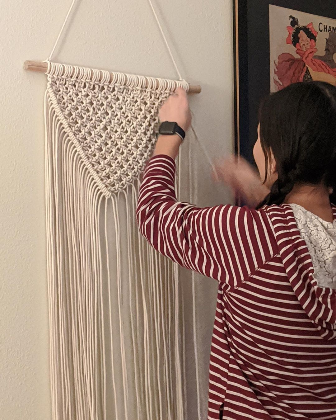 Hello! Welcome to my shop! I hand make macrame and yarn wall decor and plant hangers. See something you like, send me a message :) If it's a ready to ship item you will receive the one in the photo. Don't worry if it already sold, you can order a pre order and will receive it in 1-2 weeks. Local drop off available ! ⚪️⚫️⚪️⚫️⚪️⚫️⚪️⚫️⚪️ #macramê #macrame #macramewallhanging #macramelove #macrameplanthanger #macrameart #macramedecor #macramemoment #yarn #yarnaddict #yarnlove  #yarnstagram #craft #c