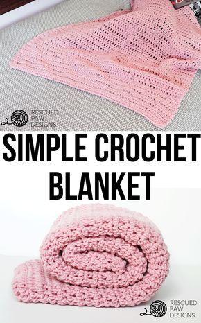 Simple Crochet Blanket Pattern From Rescued Paw Designs | Tejido ...