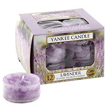 enfant Achat double coupon Yankee Candle Lot de 12 bougies chauffe-plats Parfum lavande ...