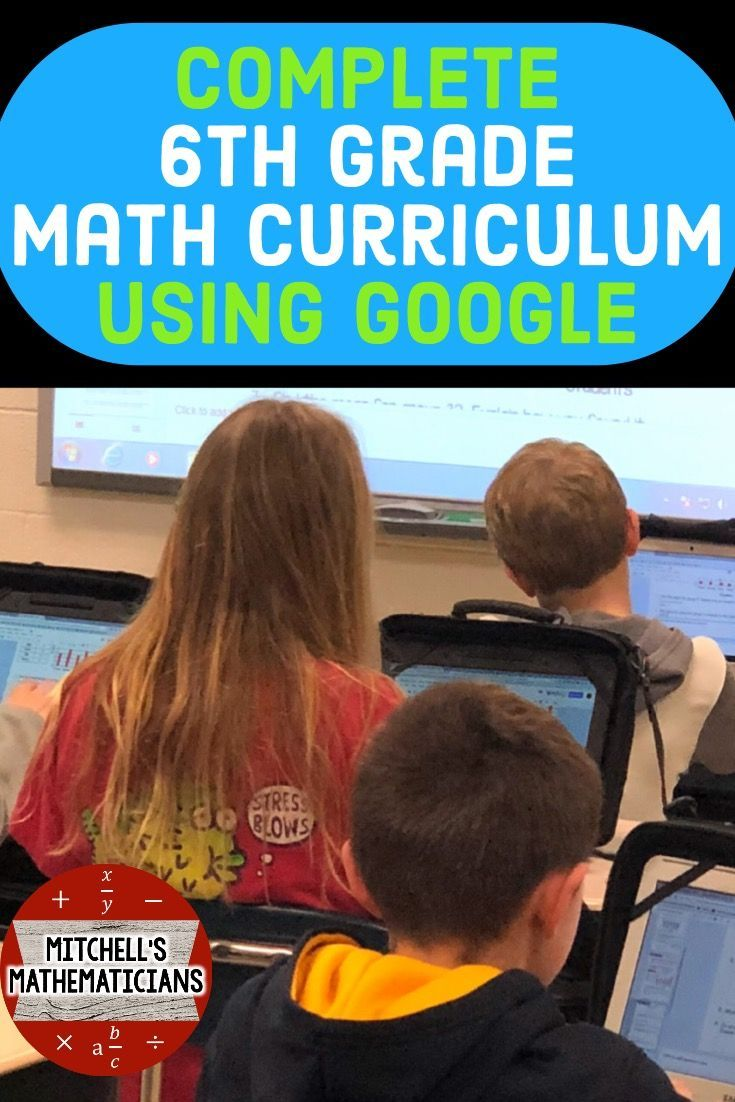 6th Grade Math Curriculum Bundle Mon Core Aligned Using Google