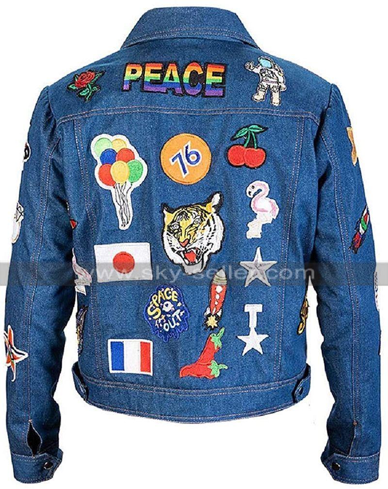 Elton John Rocketman Blue Jacket Denim Jacket Denim Jacket Patches Jackets [ 1009 x 800 Pixel ]