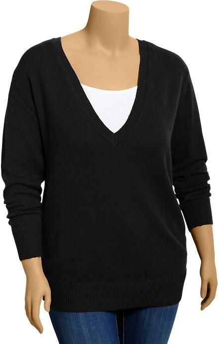 740ab89e0e Old Navy Women s Plus V-Neck Sweaters on shopstyle.com