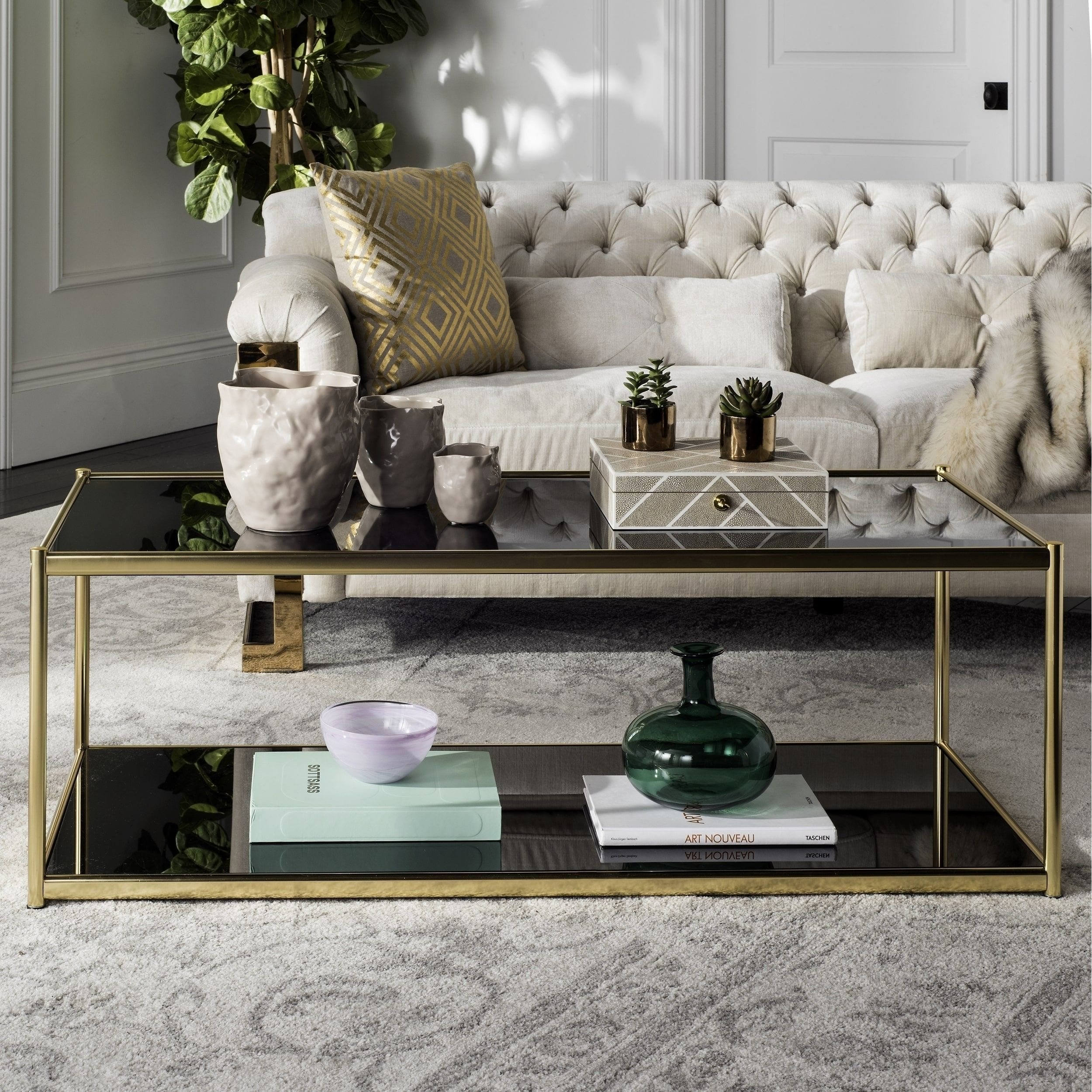 Overstock Com Online Shopping Bedding Furniture Electronics Jewelry Clothing More Coffee Table Gold Coffee Table Gold Glass Coffee Table [ 2500 x 2500 Pixel ]