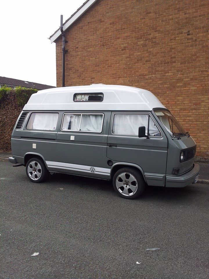 Grey with white stripe | VW T25 Hi-top Campers | Pinterest ...