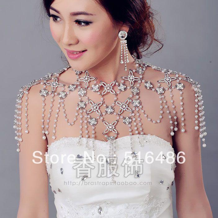 New arrival luxury crystal bride wedding long chain rhinestone