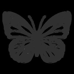 Monarch Butterfly Icon In 2020 Schmetterlingszeichnung Schone Bilder Zeichnen Monarchfalter
