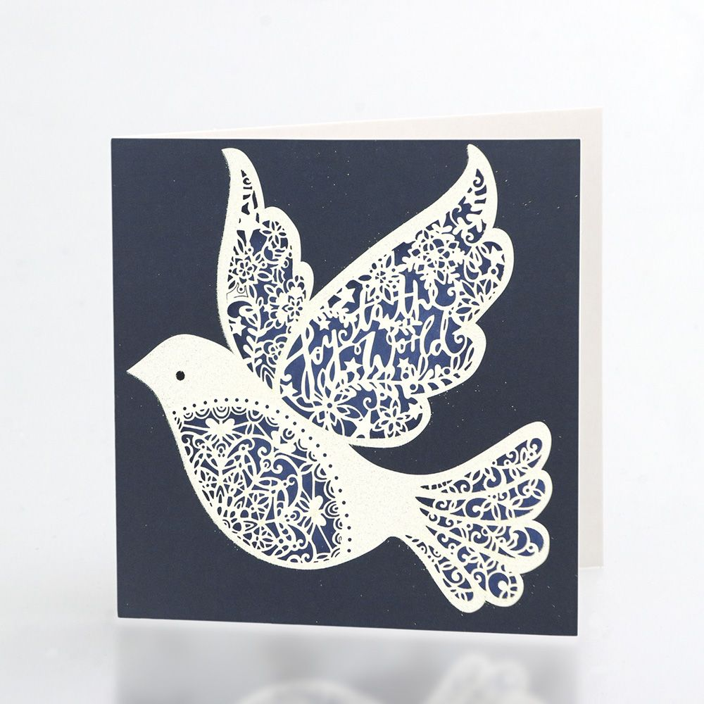 A beautiful laser-cut paper lace design in blue and glittery white ... for Laser Cut Designs Paper  146hul