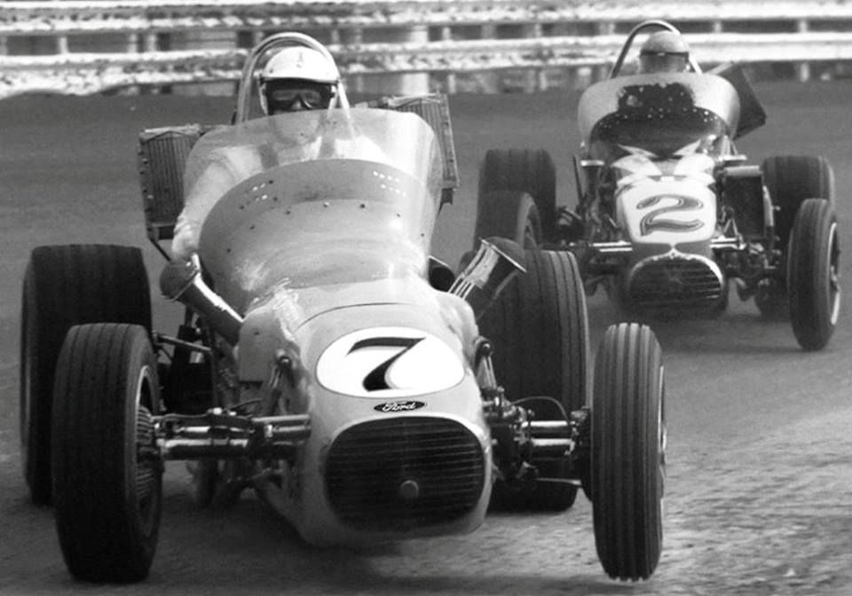 A.J. Foyt, and Al Unser, both smooth as silk on the dirt miles in ...