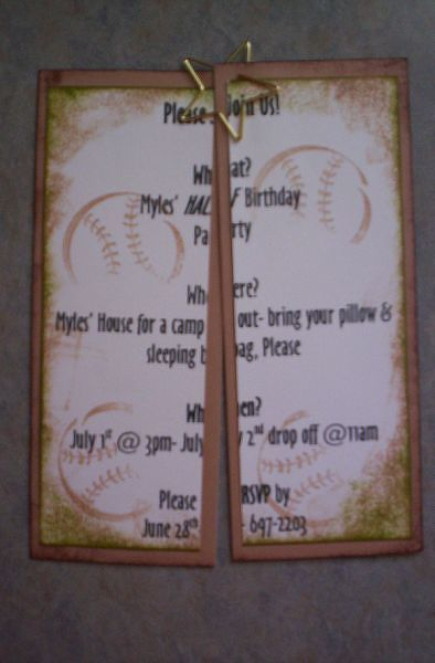 half birthday party invitation